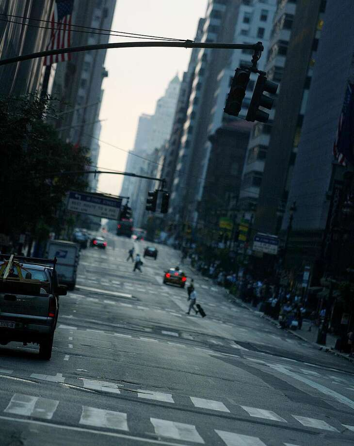 Streets appear bare as New York City remains without electricity August 15, 2003 in New York, New York. Many remain without electricity caused by a blackout that affected the entire city and most of the eastern part of the nation. Photo: JOSE JIMENEZ, File / PRIMERA HORA/GETTY IMAGES