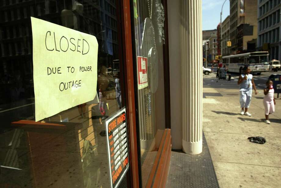 A store stands close due to the power outage August 15, 2003 in New York City. Power went out across the East Coast of the U.S and Canada August 14 and have been slowly coming back online in New York. Photo: Spencer Platt, File / Getty Images