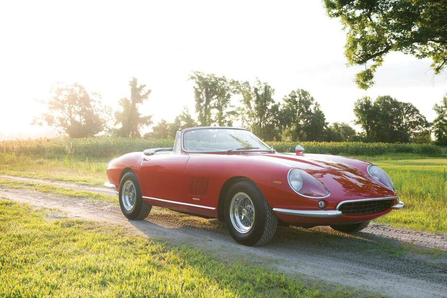 1967 Ferrari 275 GTB/4 NART Spider  The pre-sale price of this car is $14 to $17 million. It comes with a V12-engine with a five-speed manual transmission packed under the hood. Photo: Darin Schnabel ©2013 Courtesy O