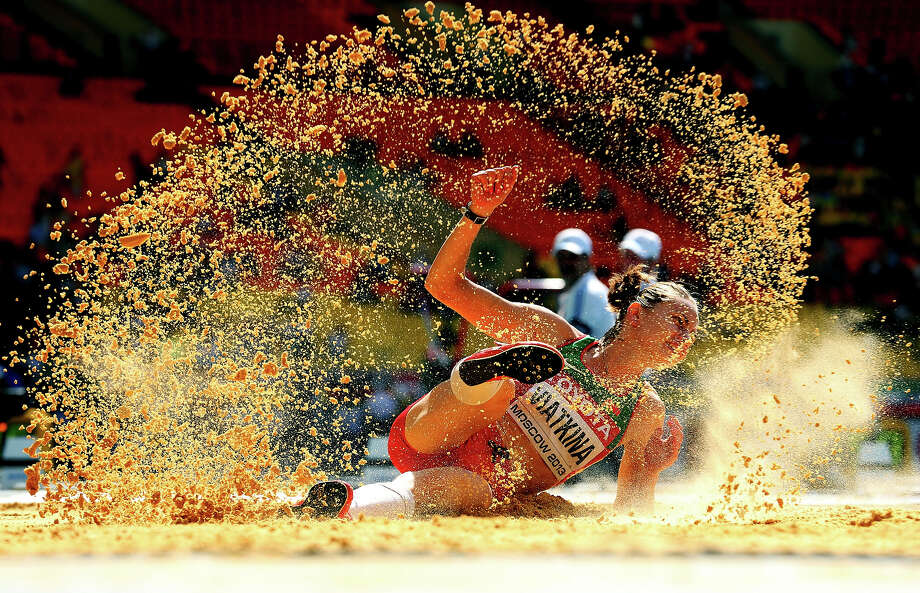 Check out the best photos from today's action at the IAAF World Athletics Championships in Moscow:Natallia Viatkina of Belarus competes in the Women's Triple Jump qualification during Day Four of the 14th IAAF. Photo: Julian Finney, Getty Images / 2013 Getty Images