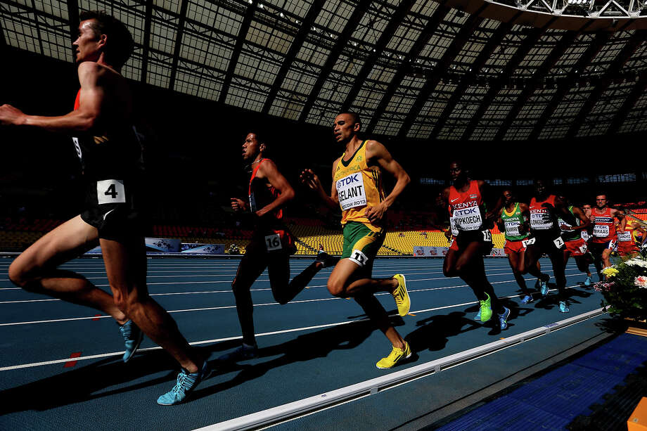Elroy Gelant of South Africa competes during the Men's 5000 metres heats during Day Four of the 14th IAAF World Athletics Championships Moscow 2013 at Luzhniki Stadium on August 13, 2013 in Moscow. Photo: Ian Walton, Getty Images / 2013 Getty Images