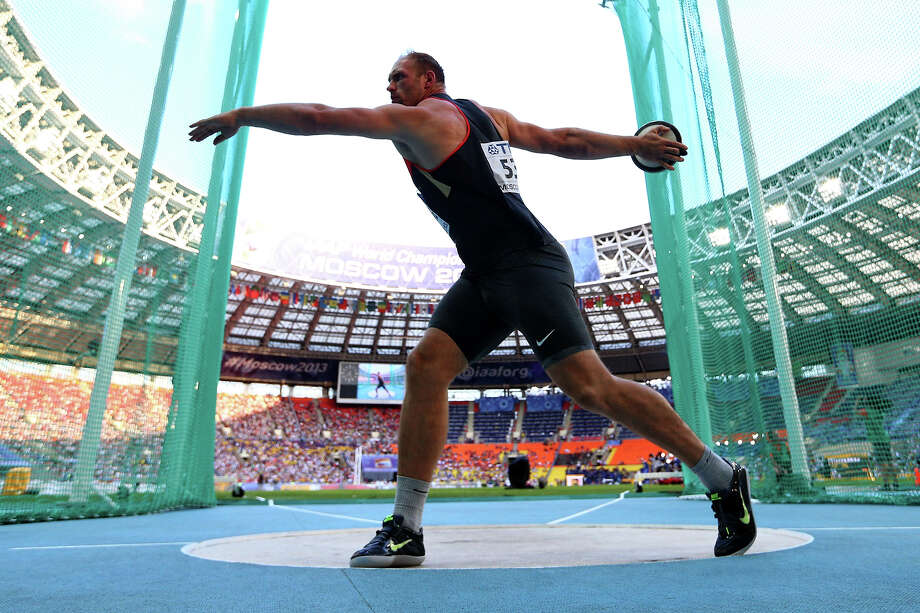 Robert Harting of Germany competes in the Men's discus throw final during Day Four of the 14th IAAF World Athletics Championships Moscow 2013 at Luzhniki Stadium on August 13, 2013 in Moscow. Photo: Paul Gilham, Getty Images / 2013 Getty Images