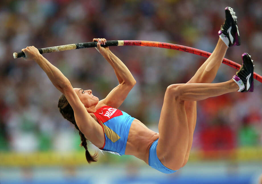 Elena Isinbaeva of Russia competes in the Women's pole vault final during Day Four of the 14th IAAF World Athletics Championships Moscow 2013 at Luzhniki Stadium on August 13, 2013 in Moscow. Photo: Julian Finney, Getty Images / 2013 Getty Images