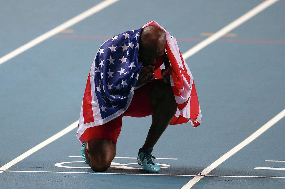 LaShawn Merritt of the United States celebrates winning gold in the Men's 400 metres final during Day Four of the 14th IAAF World Athletics Championships Moscow 2013 at Luzhniki Stadium on August 13, 2013 in Moscow. Photo: Cameron Spencer, Getty Images / 2013 Getty Images