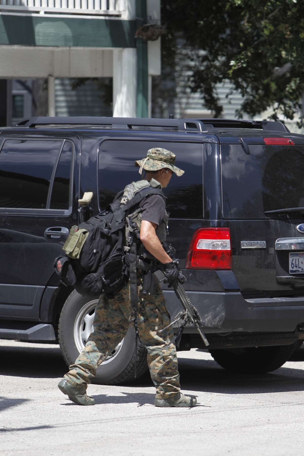 A woman has barricaded herself inside a residence at Emerson Court Apartments in the Montrose area, leading to a standoff with Houston SWAT team members.