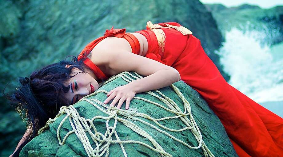 "Marina Fukushima is featured in ""Mu,"" written by Brenda Wong Aoki, music by Mark Izu and choreography by Kimi Okada at Jewish Community Center in San Francisco. Photo: Mark Shigenaga"