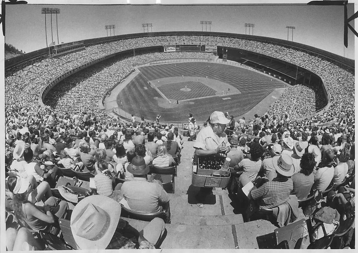 Candlestick Park. Largest crowd ever for Giants/Braves series, 50,205. Photo was taken June 19, 1983.