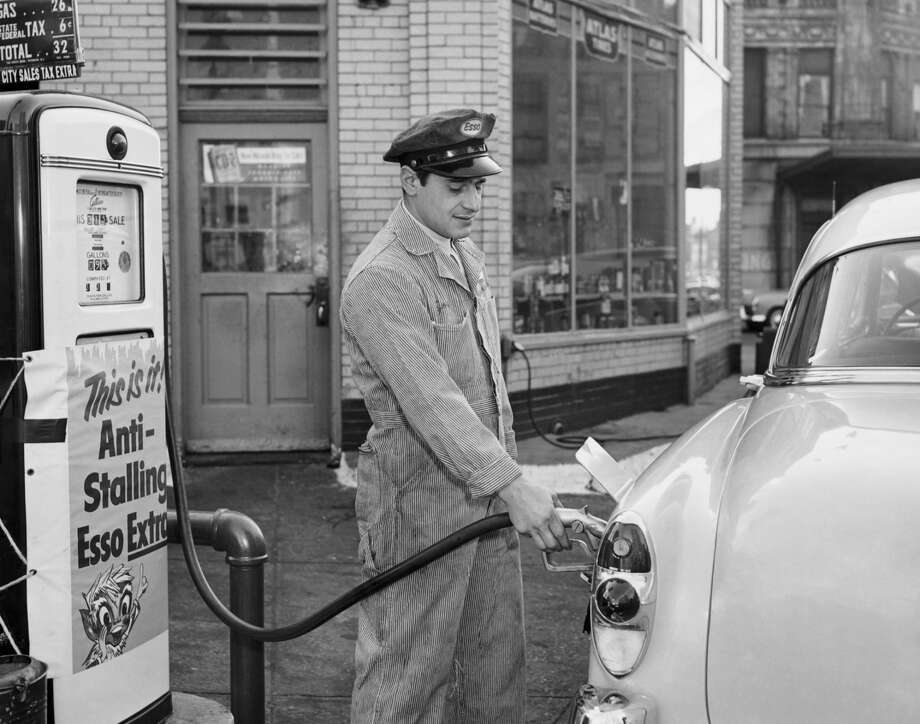 Least meaningful jobs2. Gas station attendantPeople who said this job improves the world: 4 percent. People satisfied with this job: 44 percent. Average annual salary: $17,100.  Photo: SuperStock, Inc., X / (C) 2002 SuperStock, Inc.