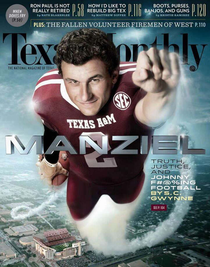 Johnny Manziel on the cover of Texas Monthly.