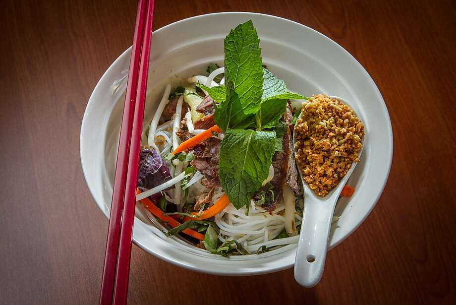 A classic vermicelli salad with sesame-marinated filet mignon is part of the first-rate salad selection at Vanessa's Bistro 2 in Walnut Creek. Photo: John Storey, Special To The Chronicle