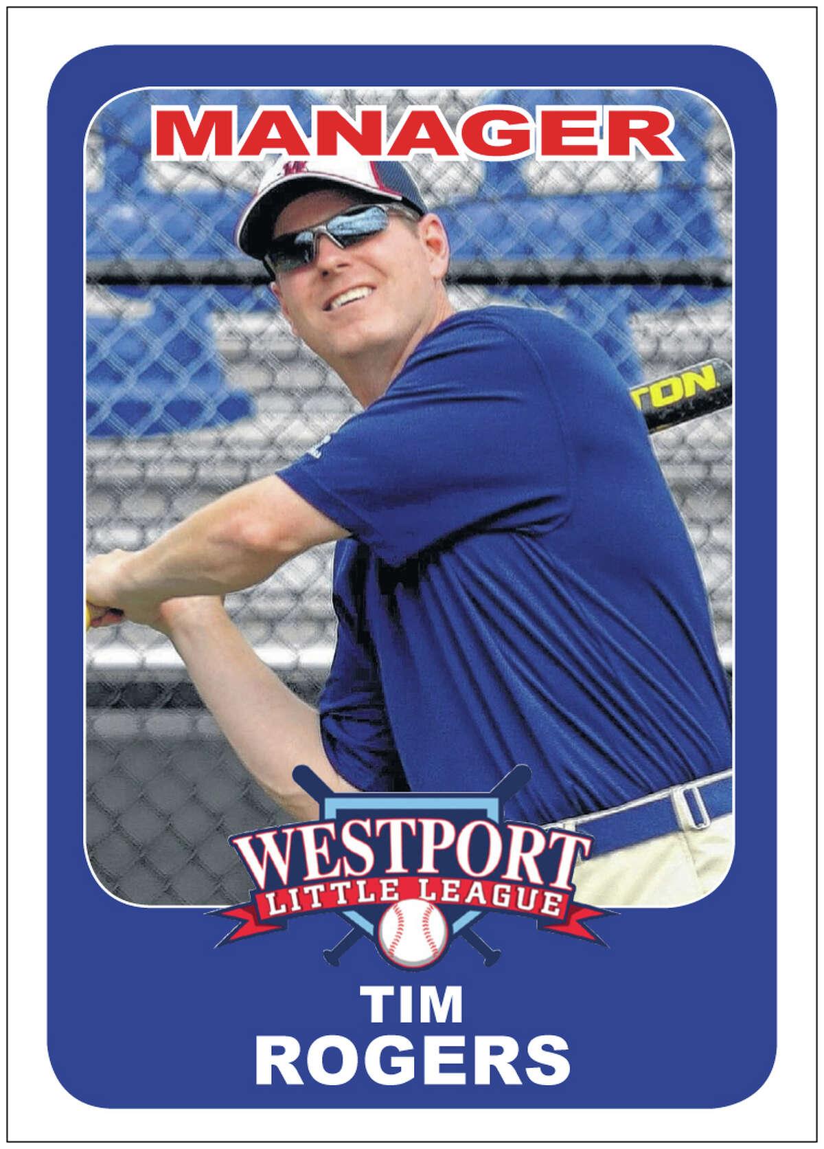 Westport Little League manager Tim Rogers