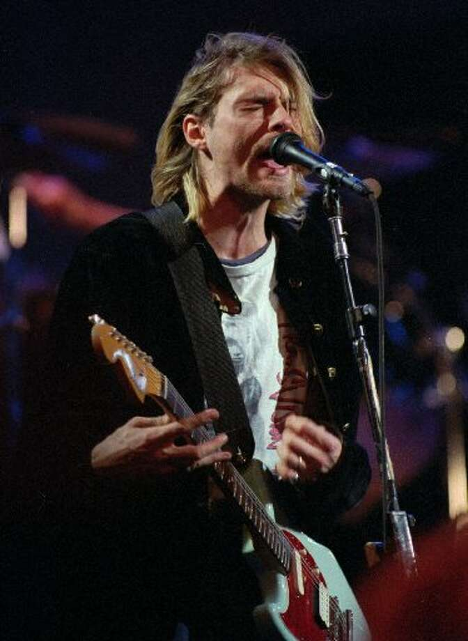 Kurt Cobain, front man for Nirvana, was left-handed. He, however, wrote with his right hand and played guitar with his left. He committed suicide in 1994. Photo: AP