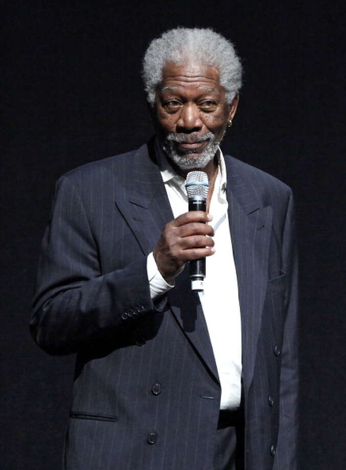 """While promoting the movie """"Now You See Me"""" with co-star Herman Caine, Morgan Freeman took a few naps during a live interview with a Fox News affiliate. Photo: Ryan Miller"""