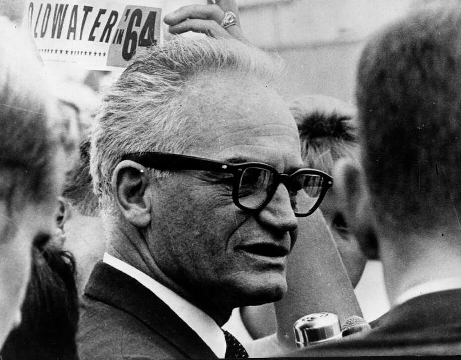 Barry Goldwater: The former Arizona senator and father of modern conservatism, defying his state's right wingers, came out in support of a medical marijuana initiative that was passed by Arizona voters in 1996. Goldwater liked to tell a story on himself. He arrived home early from Washington, D.C., and caught a nephew smoking dope in his Phoenix living room. The nephew's rejoinder to reprimand was that he'd seen Uncle Barry drinking and under the influence in that very room. (Photo By Keystone/Getty Images)