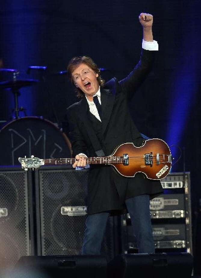 The Beatles' bassist was left-handed. Paul McCartney still rocks out with his special left-handed instrument. Photo: AP