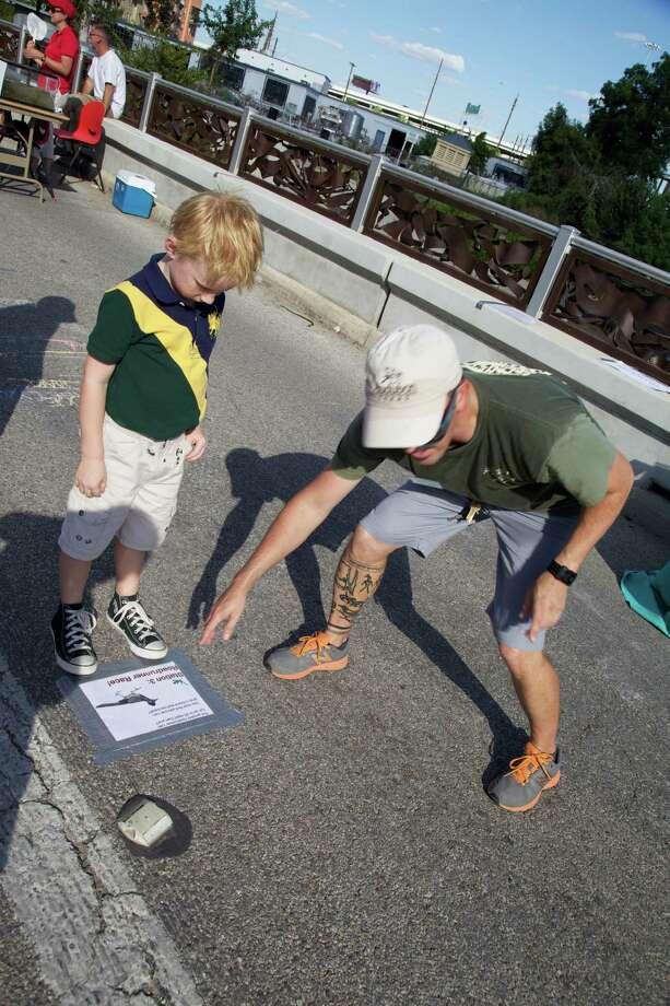 Bat Loco Bash at San Antonio Museum Reach/Urban Segment on Tuesday, Aug. 13, 2013. Photo: Xelina Flores-Chasnoff, MySA.com