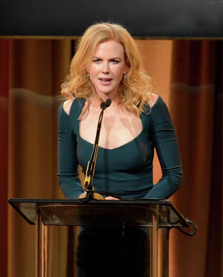 Nicole Kidman speaks on stage at the Hollywood Foreign Press Association Luncheon at the Beverly Hilton Hotel on Tuesday, Aug. 13, 2013, in Beverly Hills, Calif. (Photo by Chris Pizzello/Invision/AP) ORG XMIT: CAPM135 Photo: Chris Pizzello, AP / Invision