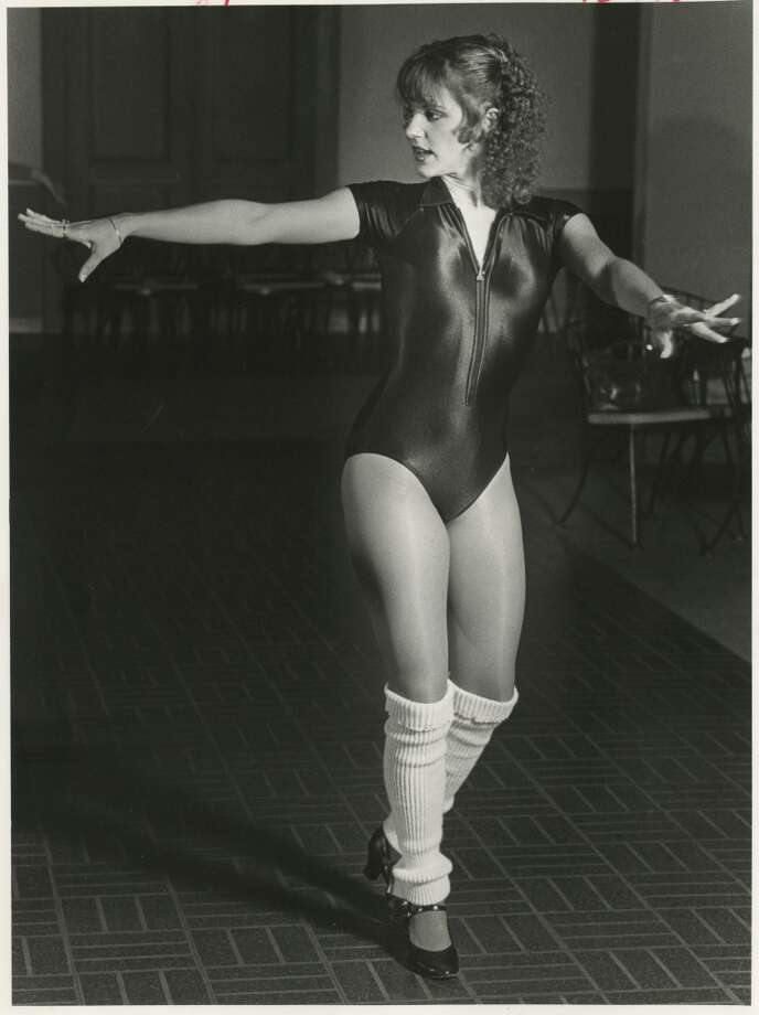 Derrick Doll Carole Campbell practices a step in 1982. Photo: Derrick Dolls