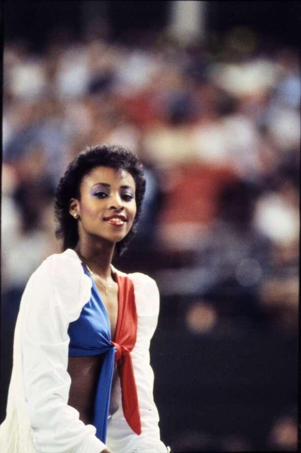 Derrick Dolls cheerleader in 1984. Photo: Derrick Dolls, Houston Chronicle