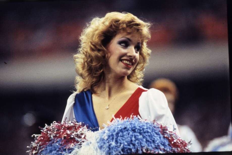 Derrick Dolls cheerleader in 1984. Photo: Derrick Dolls, Houston Chronicle