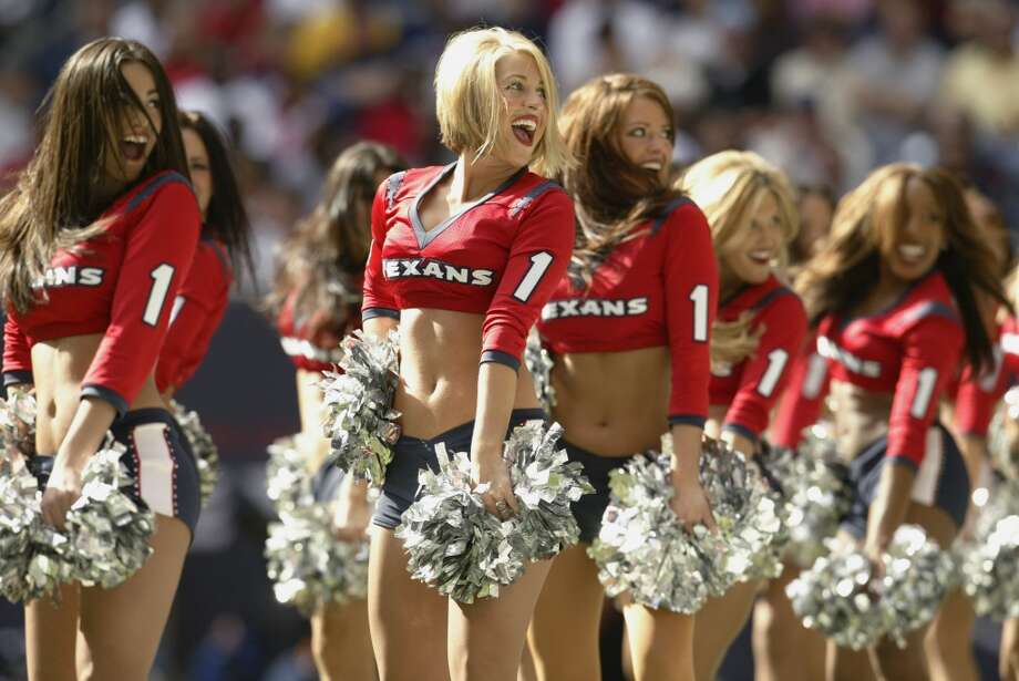 Houston Texans cheerleaders in  2003. Photo: Brian Bahr, Getty Images