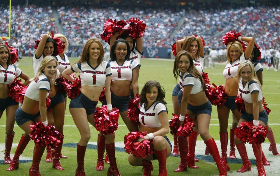 Houston Texans cheerleaders in  2005. Photo: Bob Levey, NFL