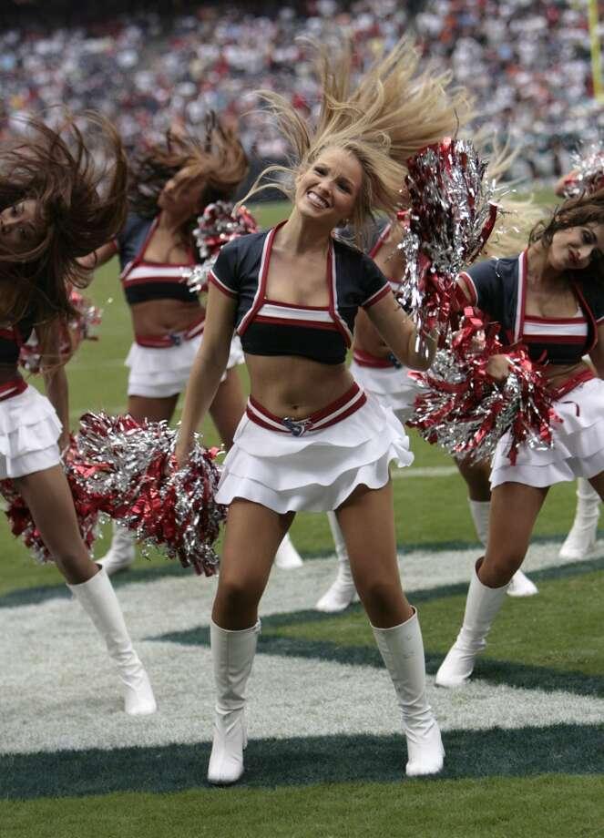 Houston Texans cheerleaders in 2009. Photo: Bob Levey, NFL