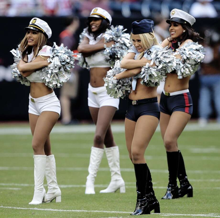 Houston Texans cheerleaders in  2009 Photo: Bob Levey, Getty Images