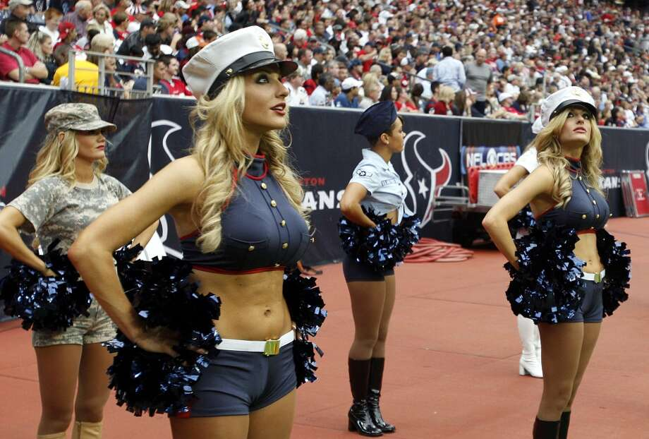 Houston Texans cheerleaders in  2011. Photo: Bob Levey, Getty Images