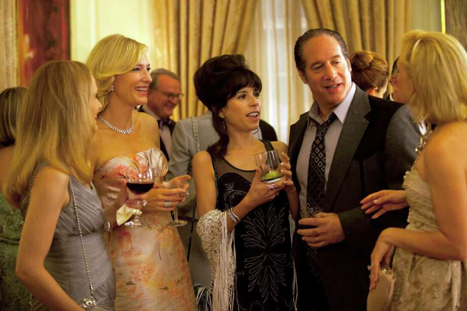 "In this film image released by Sony Pictures Classics shows, from second left, Cate Blanchette, Sally Hawkins, and Andrew Dice Clay in a scene from the Woody Allen film, ""Blue Jasmine.""  (AP Photo/Sony Pictures Classics) ORG XMIT: NYET119 / Sony Pictures Classics"