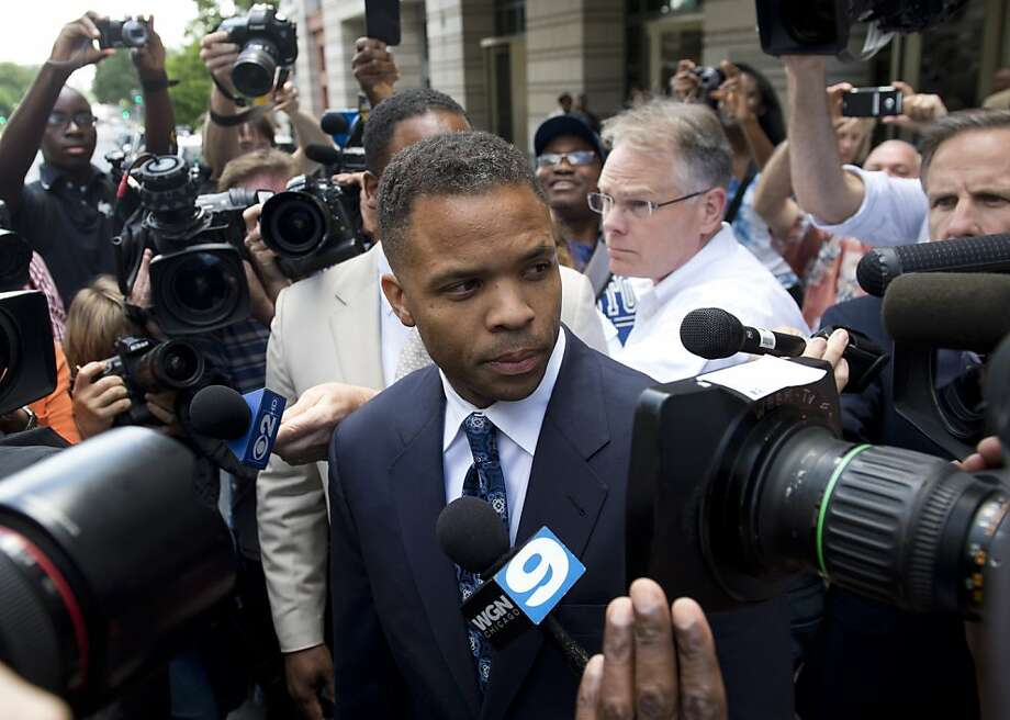 Jesse Jackson Jr. leaves court after sentencing. Photo: Saul Loeb, AFP/Getty Images