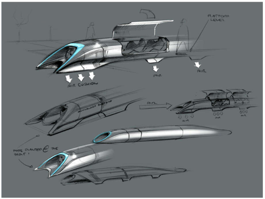 Billionaire Elon Musk's Hyperloop proposal for bringing electro-magnetic-powered transportation and the linear induction motor back to the future. Musk unveiled his idea Monday on his Tesla Motors blog. Musk is the Chairman, Product Architect & CEO of Tesla Motors. (Photo courtesy of Tesla Motors) Photo: Multiple