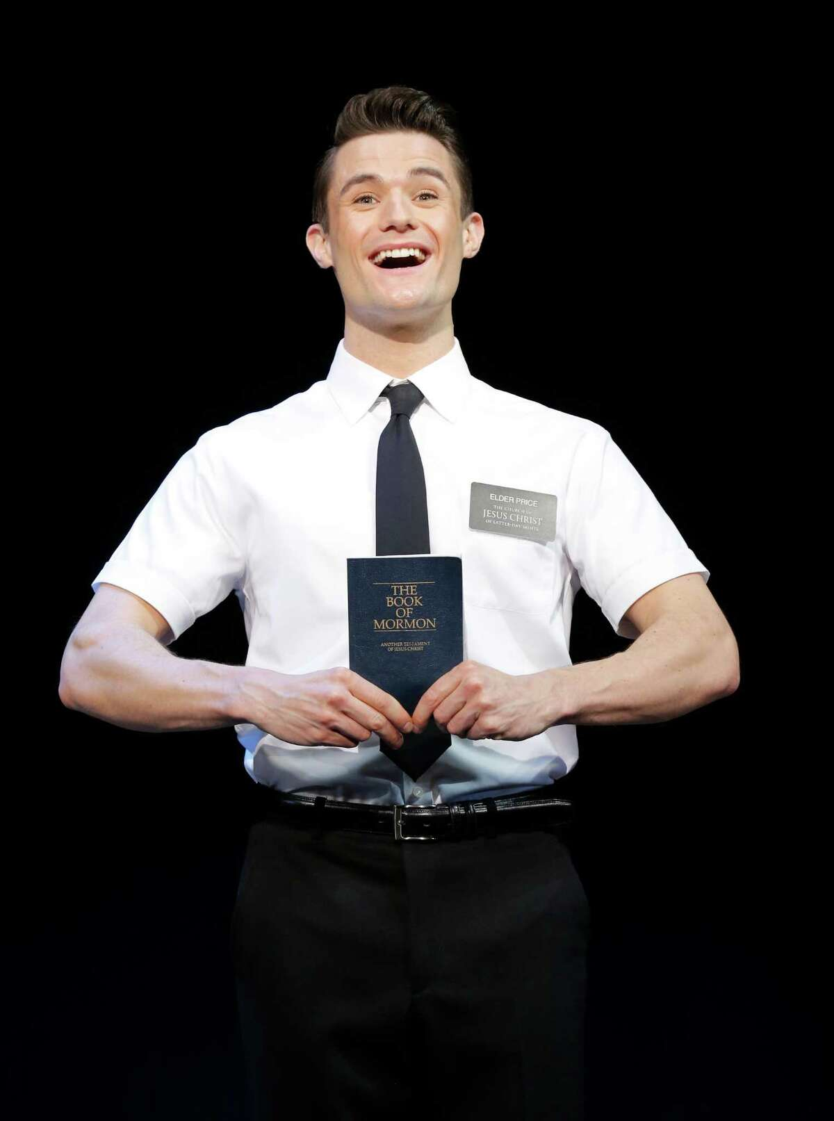 """Mark Evans in the first national tour of """"THE BOOK OF MORMON,"""" which will will be presented in Houston as part of the 2013-2014 Gexa Energy Broadway series at the Hobby Center. The Book of Mormon"""