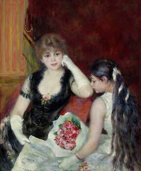 """Pierre-Auguste Renoir's """"A Box at the Theater (At the Concert)"""" (1880) is among works that will be seen in """"The Age of Impressionism: Great French Paintings from the Clark"""" at the Museum of Fine Arts, Houston Dec. 22-March 23. Tickets go on sale Wednesday, Nov. 20. Â Sterling and Francine Clark Art Institute, Williamstown, Massachusetts, USA Photo: Clark Art Institute / ONLINE_YES"""