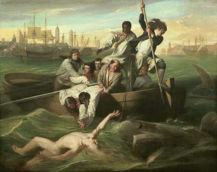 """The commissioner of John Singleton Copley's """"Watson and the Shark"""" lost a leg as a boy in Cuba. Photo: National Gallery Of Art"""