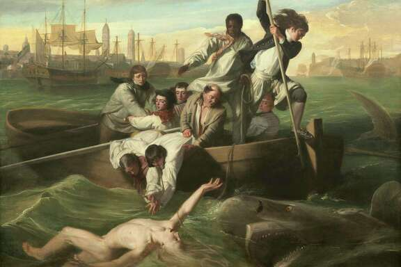 "The commissioner of John Singleton Copley's ""Watson and the Shark"" lost a leg as a boy in Cuba."