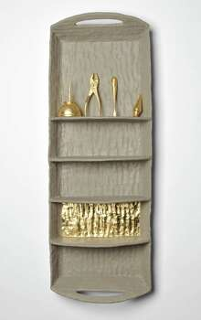 """FAC: Houston Center for Contemporary Craft: Tybre Newcomer's """"Still Life"""" (ceramic, gold leaf. 2012) is among works on view in """"The Maker's Archive"""" at HCCC Oct. 4 - Dec. 1. Photo: Tybre Newcomer"""
