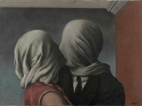 """Coming to the Menil Collection Feb. 14-June 1 in """"Magritte: The Mystery of the Ordinary 1926-1938"""": René Magritte (Belgian, 1898–1967) Les amants (The Lovers), 1928 Oil on canvas 21 3/8 x 28 7/8"""" (54 x 73.4 cm).  Museum of Modern Art. Gift of Richard S. Zeisler.  Charly Herscovici -– ADAGP - ARS, 2013 Photo: Thomas Griesel / ONLINE_YES"""