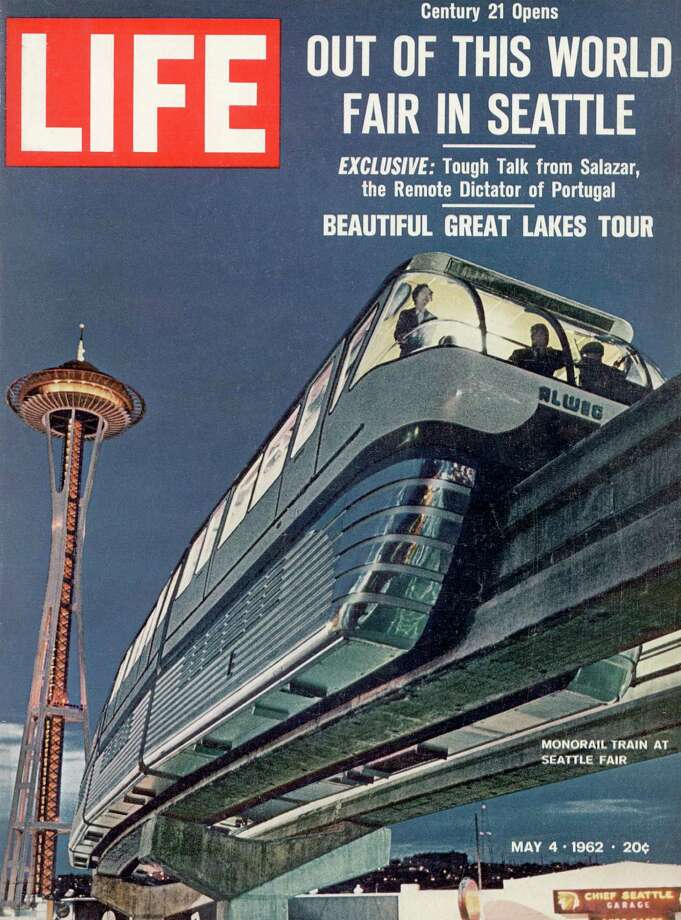The 1962 cover of Life featured our monorail and Space Needle at World's Fair in Seattle Photo: Ralph Crane., Getty Images / Time & Life Pictures