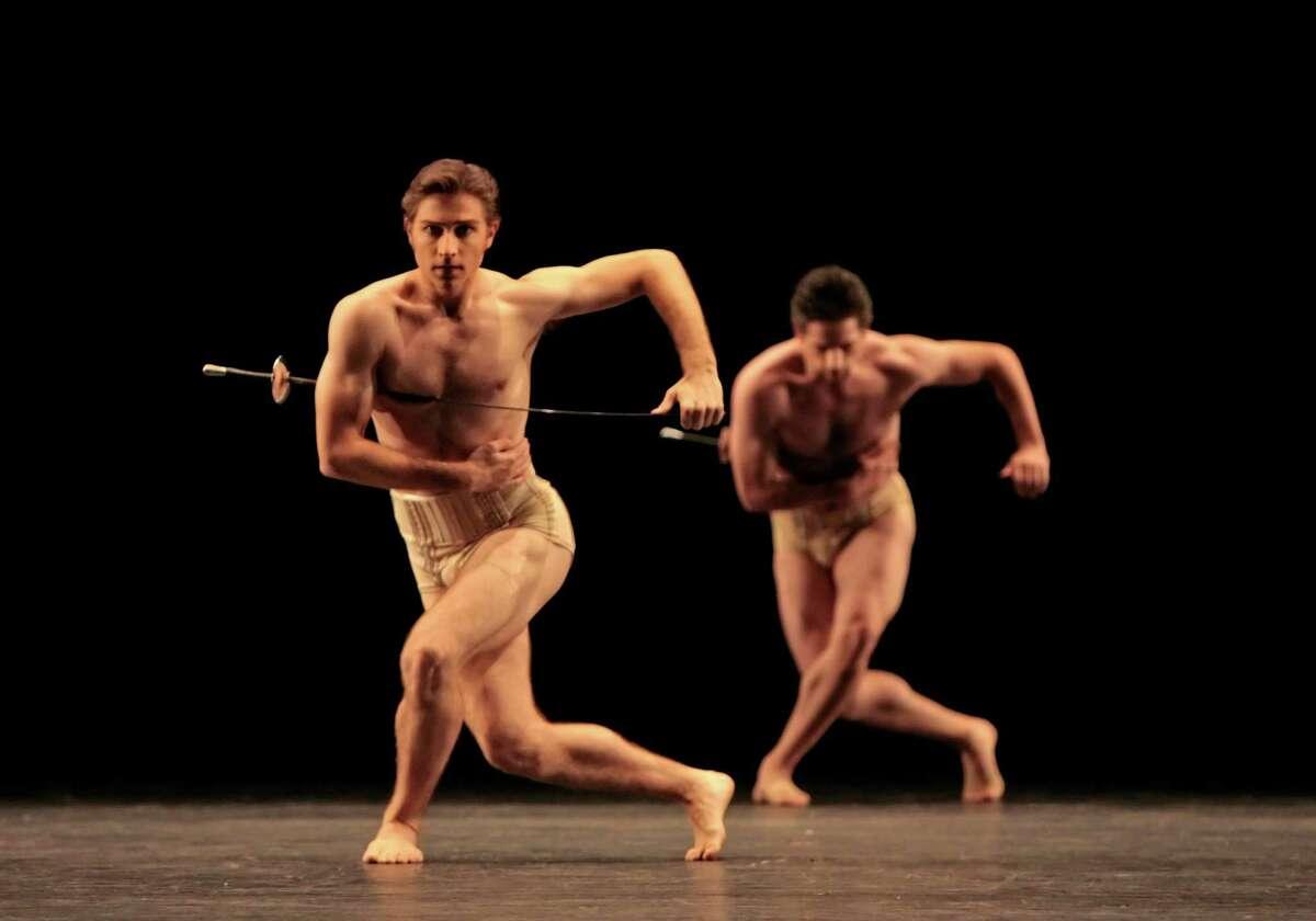 "Houston Ballet presents Jiri Kylian's ""Petite Mort"" May 22-June 1. Dancer(s): Ian Casady and Jame Gotesky Photo: Amitava Sarkar"