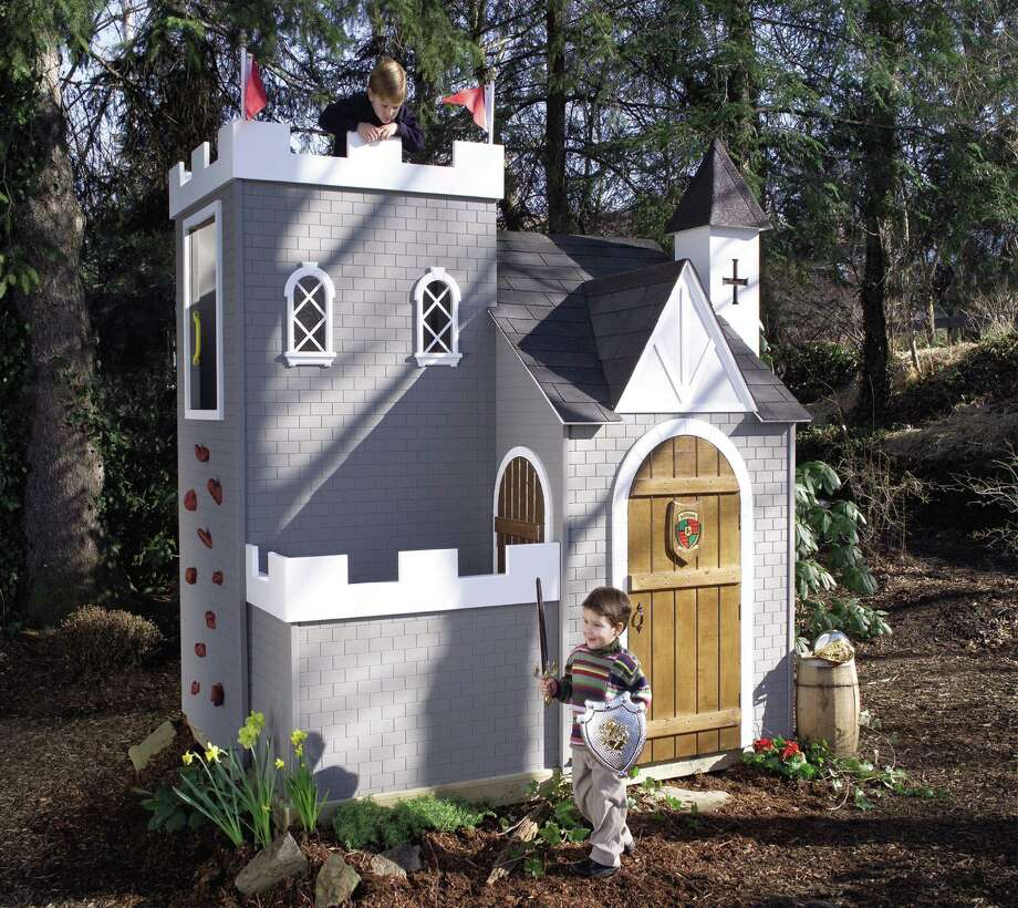This little castle, in Finleyville, Pa., cost just $6,999, although that's a lot to spend on a playhouse for your kid. Photo: Barcroft Media, Barcroft Media Via Getty Images / Barcroft Media