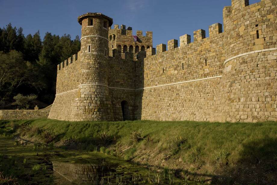 Castello di Amorosa features an actual moat. Photo: George Rose, Getty Images / 2009 George Rose