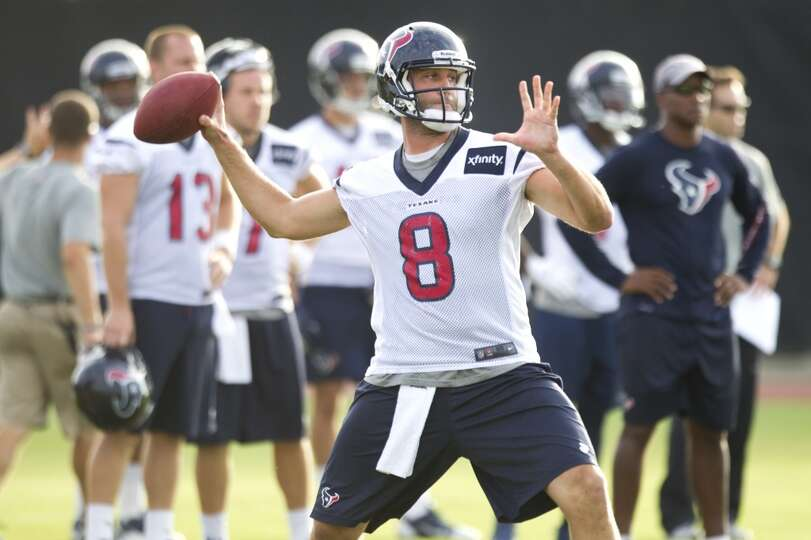 Quarterback Matt Schaub (8) throws a pass.
