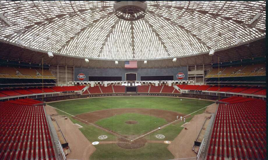 Early Astrodome interior. Photo: Houston Post