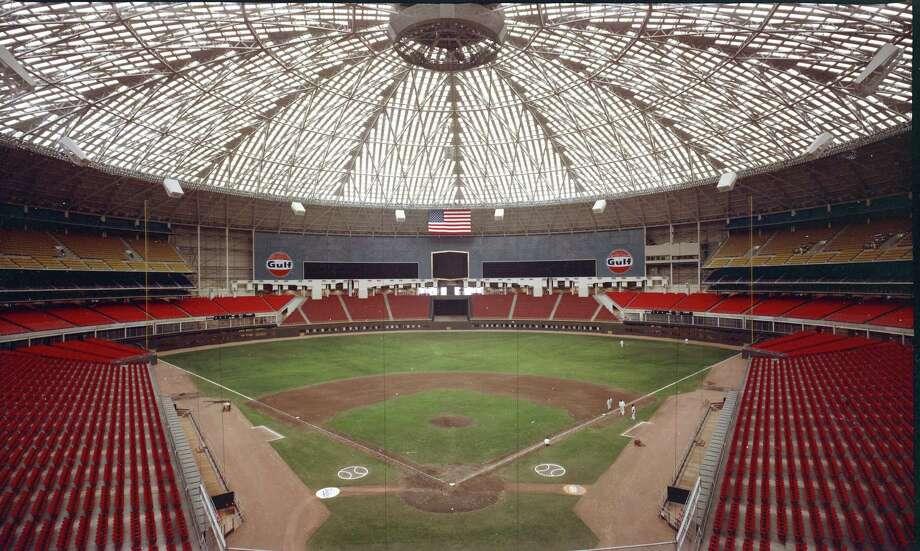 Early Astrodome interior. Photo: Houston Post
