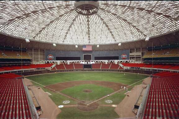 Early Astrodome interior.