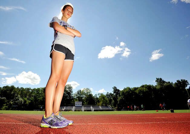 Westhill High School senior Claire Howlett is a long distance runner for the Vikings. Photographed on Wednesday, Aug. 14, 2013. Photo: Jason Rearick / Stamford Advocate
