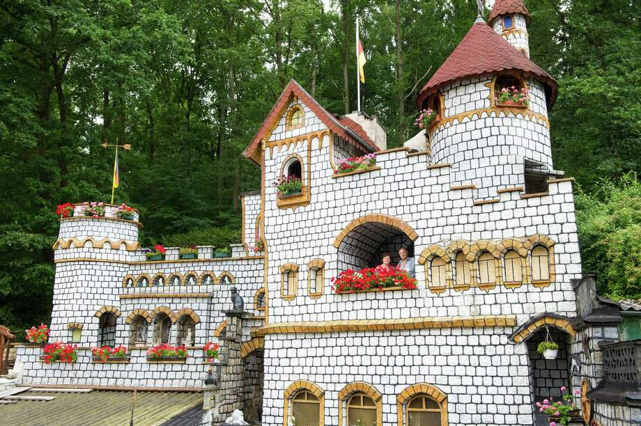 Hildegard and Heinz Schoenewolf built this 50-foot-tall replica of a castle over 37 years in their back yard in Dudweiler, Germany. Photo: OLIVER DIETZE/AFP/Getty Images, AFP/Getty Images / 2012 AFP