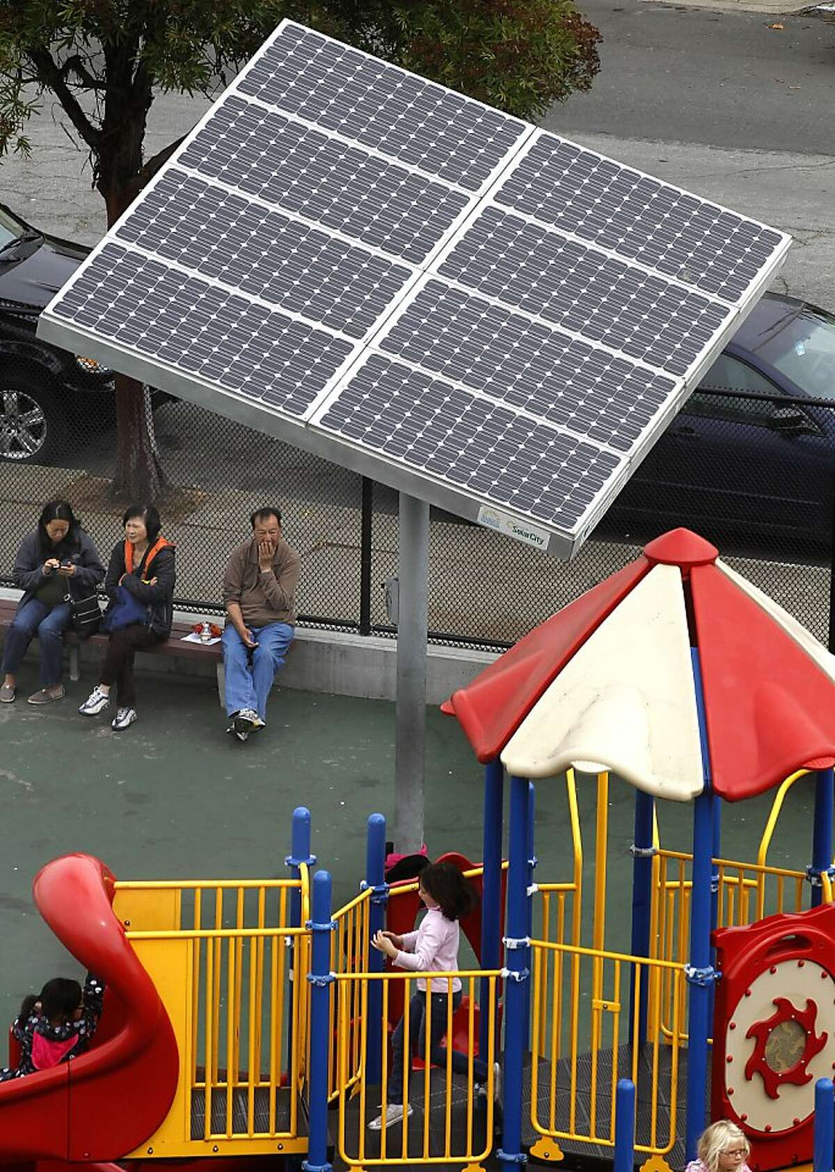 In this file photo, a Lawton Alternative a K-8th grade school in San Francisco. CleanPowerSF, is designed to build a customer base and revenue stream to lay the groundwork for city-owned renewable power generation while advancing San Francisco's aggressive greenhouse gas reduction goals.