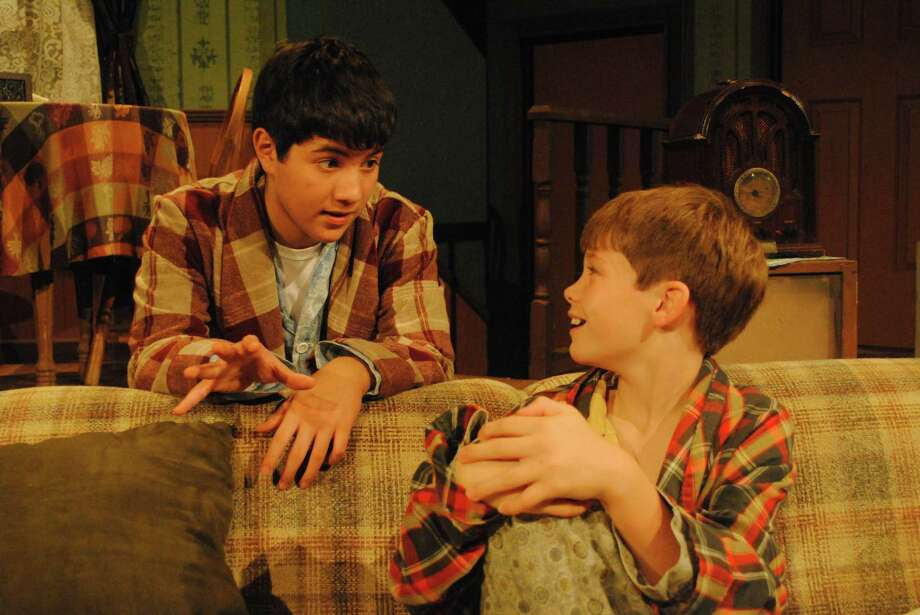 "Zach Espinoza (left) and A.J. Faulkner play brothers living with a cold, tough grandmother in the Sheldon Vexler Theatre's staging of ""Lost in Yonkers."" Photo: Courtesy Dylan Brainard"